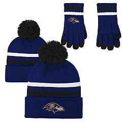Boys 8-20 Baltimore Ravens Beanie & Gloves Set