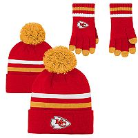Boys 8-20 Kansas City Chiefs Beanie & Gloves Set