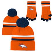 Boys 8-20 Denver Broncos Beanie & Gloves Set