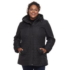 Plus Size KC Collections Triangle Quilted Jacket