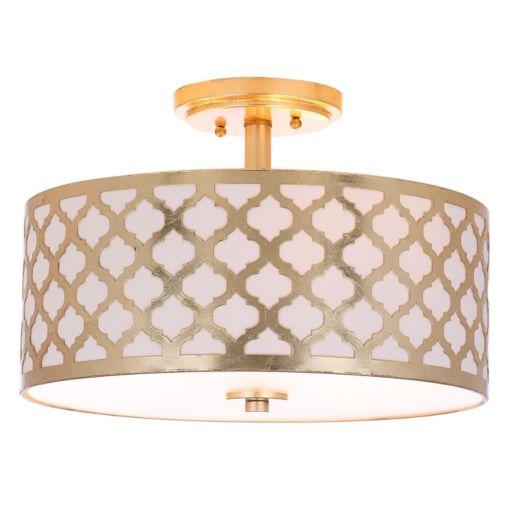 Safavieh Kora Semi-Flush Mount Quatrefoil Ceiling Lamp