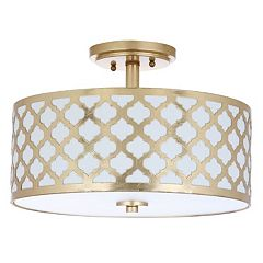 Safavieh Kora Semi-Flush Mount Quatrefoil Ceiling Lamp