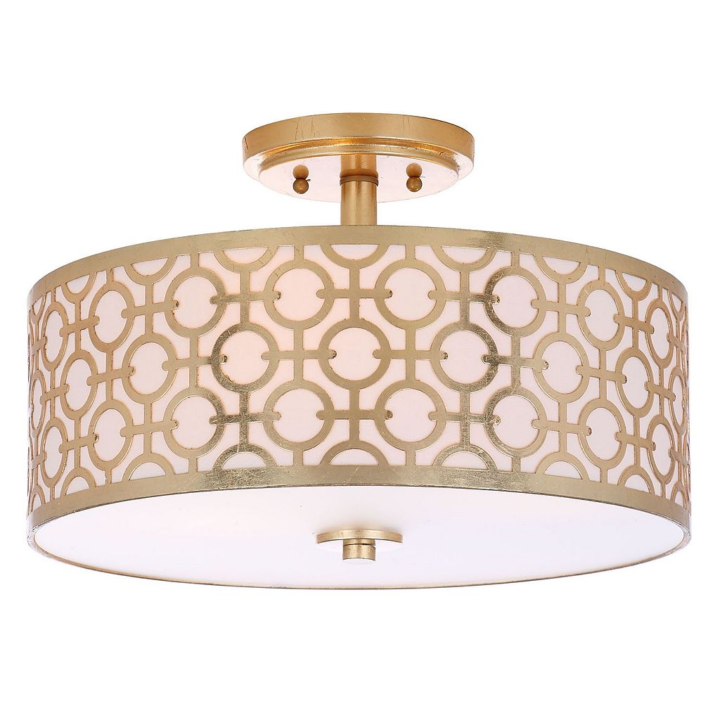 Safavieh Vera Semi-Flush Mount Geometric Ceiling Lamp