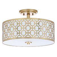 Safavieh Vera Semi-Flush Mount Geometric Ceiling Lamp
