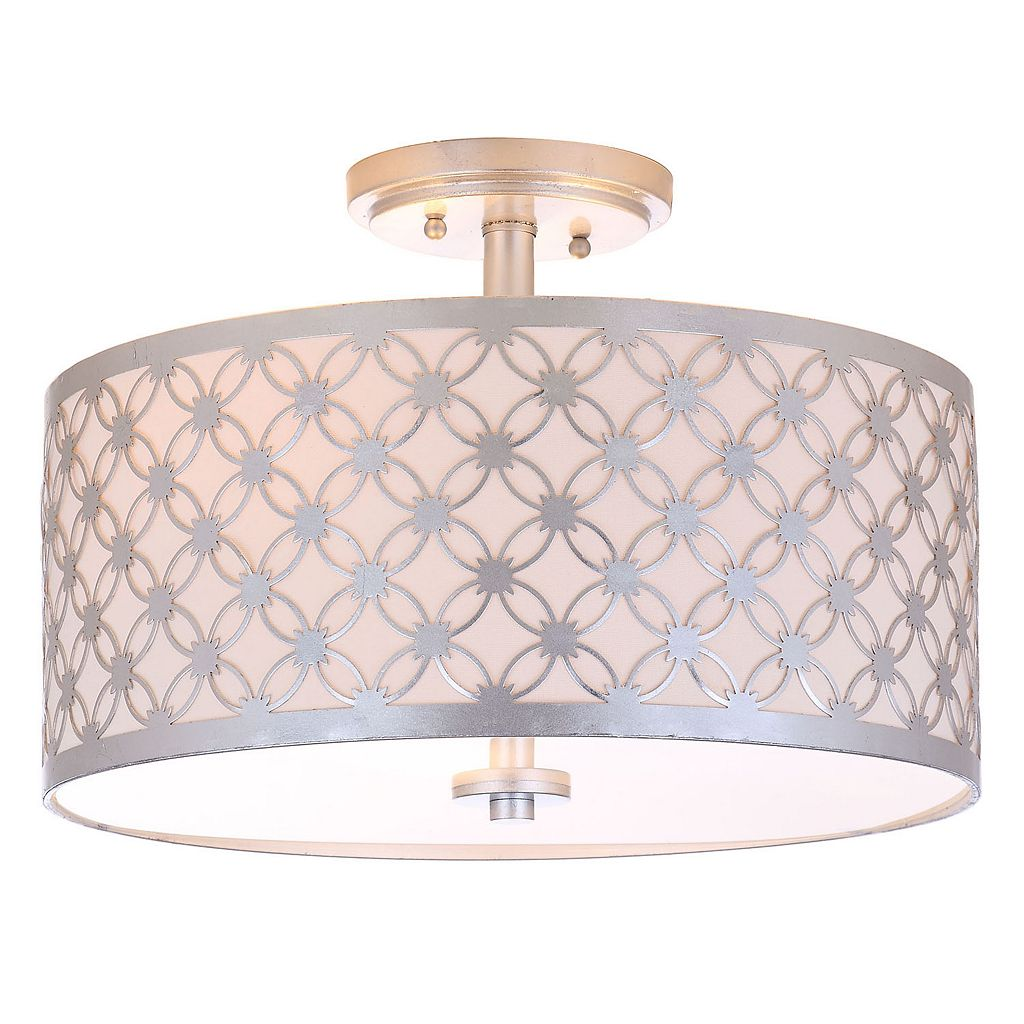 Safavieh Hutch Semi-Flush Mount Retro Ceiling Lamp