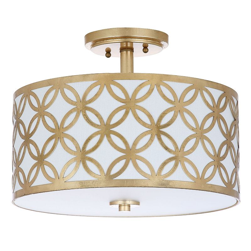 Safavieh Cecily Semi-Flush Mount Ceiling Lamp. Gold