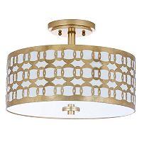 Safavieh Cedar Semi-Flush Mount Geometric Ceiling Lamp
