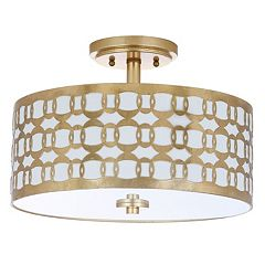 Safavieh Cedar Semi-Flush Mount Geometric Ceiling Lamp