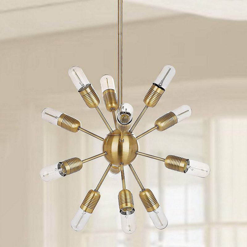 Safavieh 12-Light Industrial Pendant Lamp, Gold