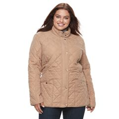 Plus Size KC Collections Diamond Quilted Jacket