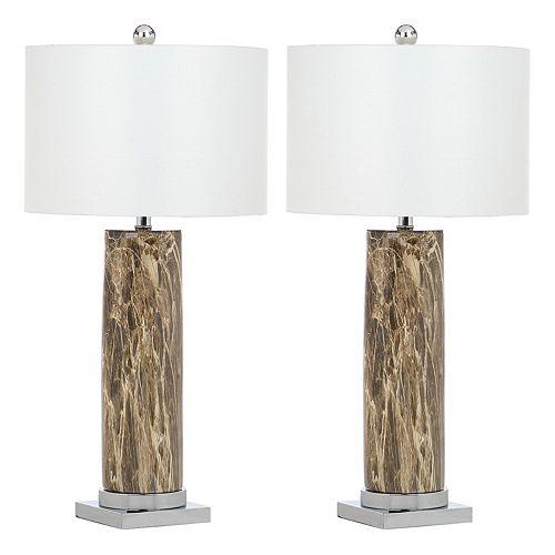 Safavieh Faux Marble Table Lamp 2-piece Set