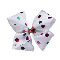 Girls 4-16 JoJo Siwa Rainbow Foil Dot Bow