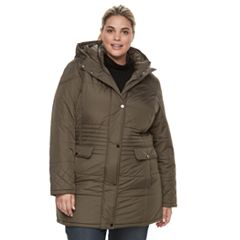 Plus Size KC Collections Quilted Hooded Walker Jacket