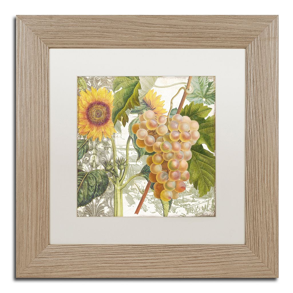 Trademark Fine Art Dolcetto IV Washed Matted Framed Wall Art
