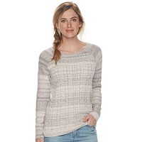 Women's SONOMA Goods for Life™ Cable-Knit Crewneck Sweater