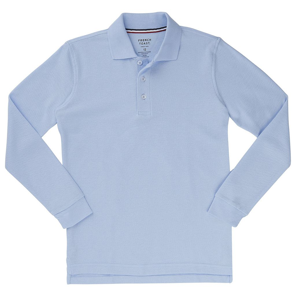 Boys 10-20 Husky French Toast School Uniform Pique Polo