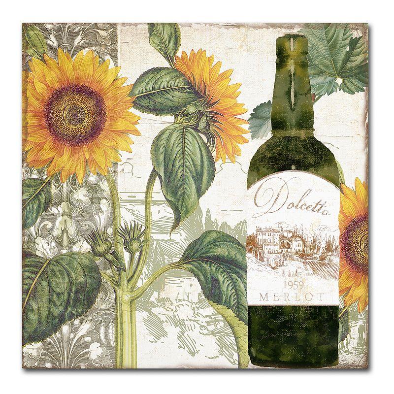 Trademark Fine Art Dolcetto V Canvas Wall Art. Green. 24 X 24