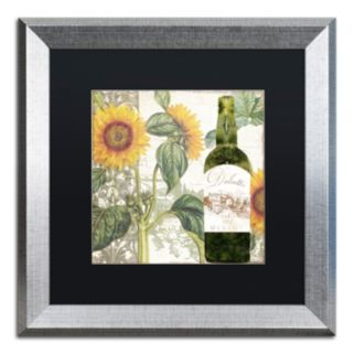 Trademark Fine Art Dolcetto V Silver Matted Framed Wall Art