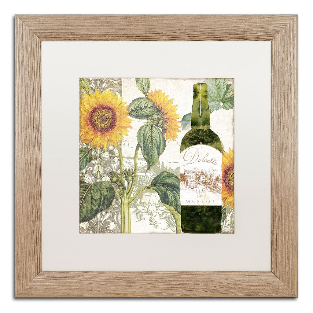 Trademark Fine Art Dolcetto V Washed Matted Framed Wall Art