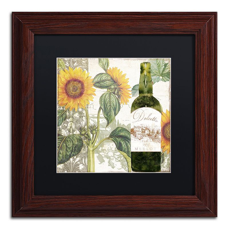 Trademark Fine Art Dolcetto V Matted Framed Wall Art. Black. 11X11