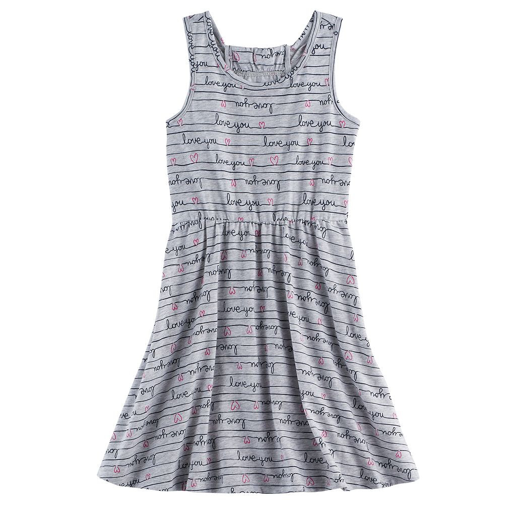 Girls 4-10 Jumping Beans® Patterned Racerback Skater Dress