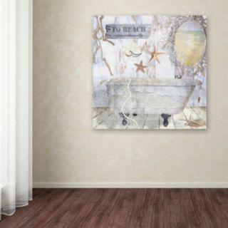 Trademark Fine Art Beach House I Canvas Wall Art