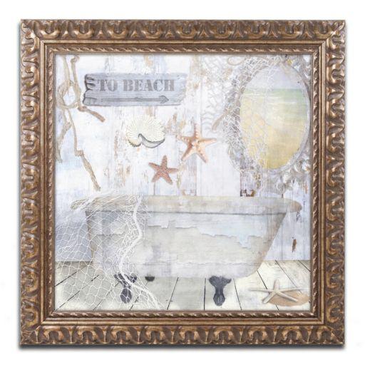 Trademark Fine Art Beach House I Ornate Framed Wall Art