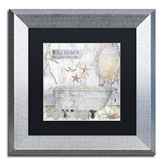 Trademark Fine Art Beach House I Silver Matted Framed Wall Art