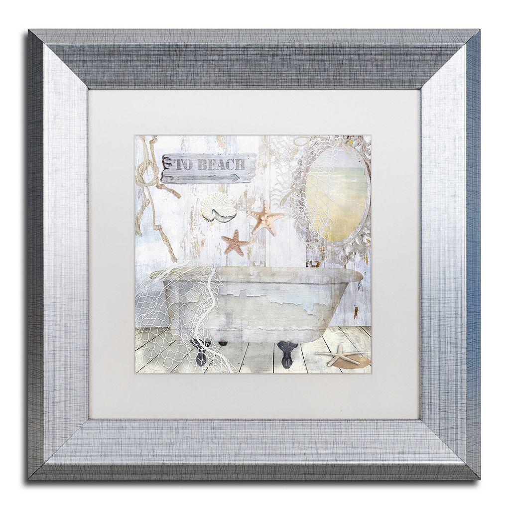Trademark Fine Art Beach House I Silver Matted Framed Wall Art
