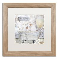 Trademark Fine Art Beach House I Washed Matted Framed Wall Art