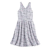 Girls 4-10 Jumping Beans® Patterned Henley Crossback Dress