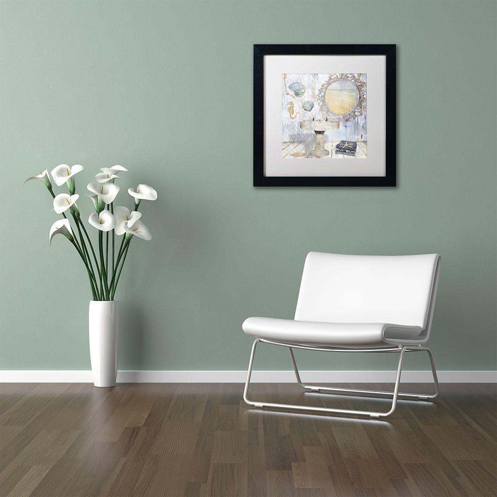 Trademark Fine Art Beach House II Black Matted Framed Wall Art