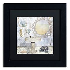 Trademark Fine Art Beach House II Black Matted Framed Wall Art