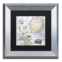 Trademark Fine Art Beach House II Silver Matted Framed Wall Art
