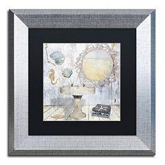 Trademark Fine Art Beach House II Silver Matted Framed Wall Art