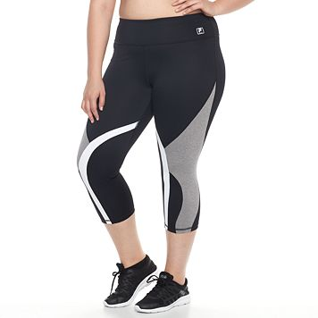Plus Size FILA SPORT® Swerve Colorblock Crop Leggings