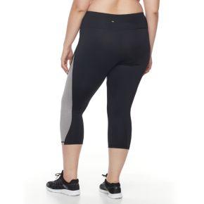 Plus Size FILA SPORT® Swerve Colorblock Crop Leggings