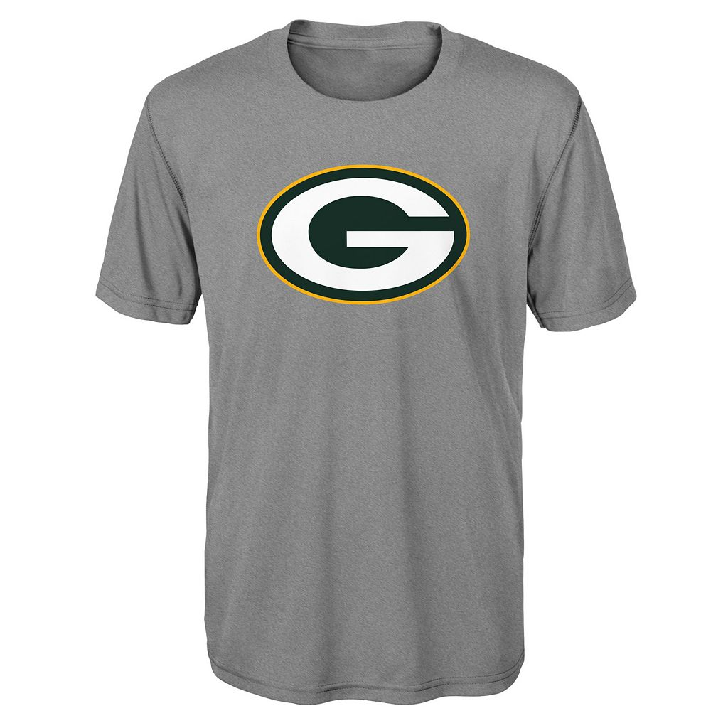 Boys 8-20 Green Bay Packers Primary Logo Performance Tee