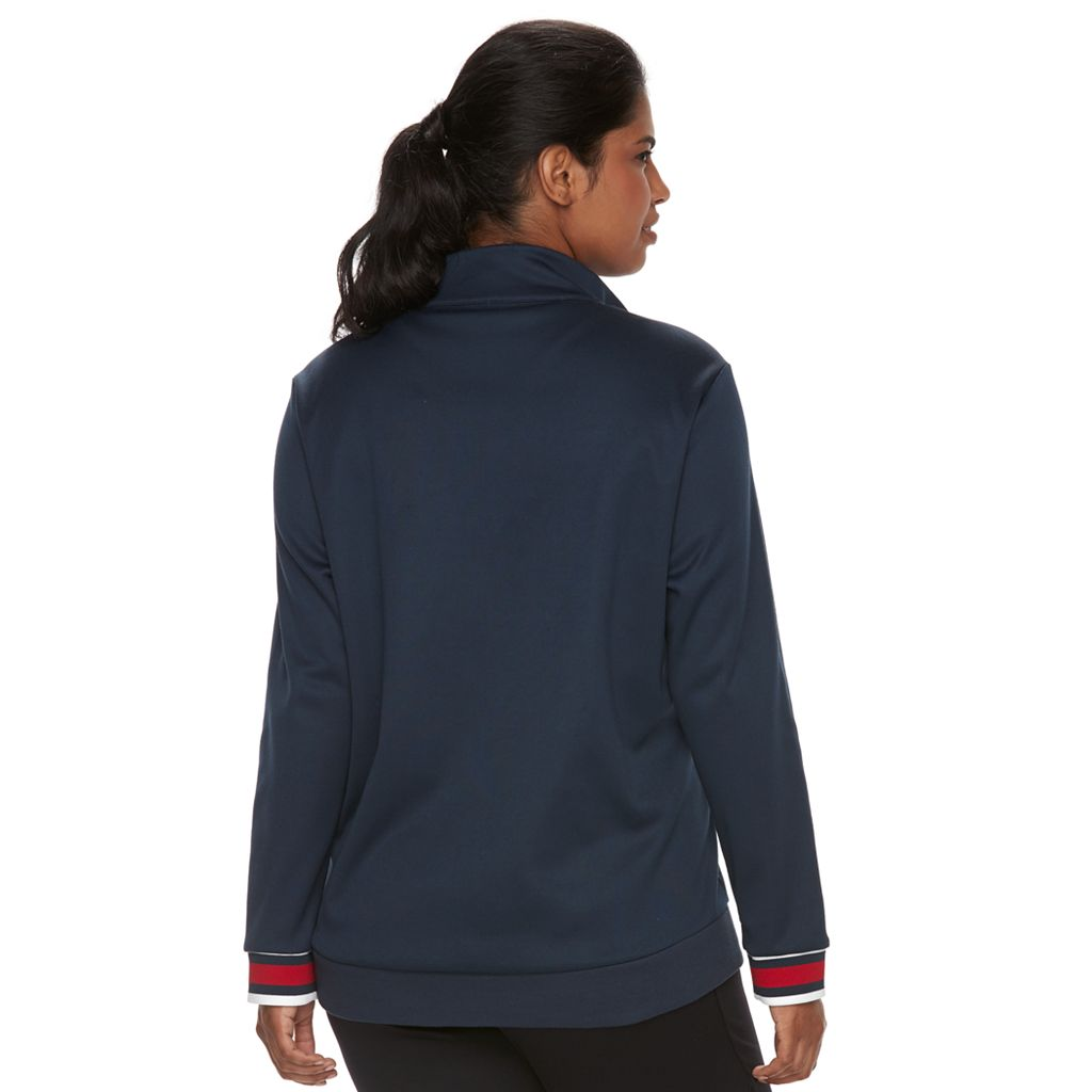 Plus Size Fila Sport® Long Sleeve Track Jacket