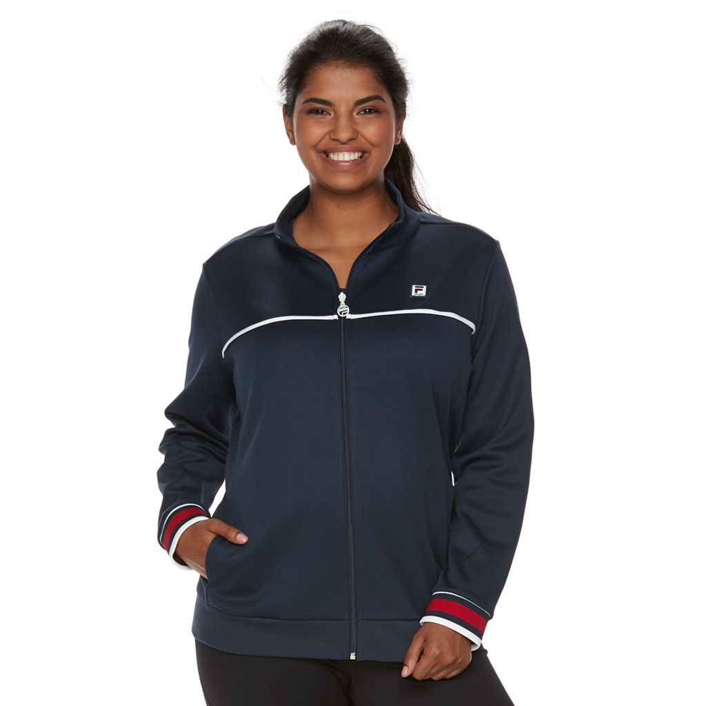 Plus Size Fila Sport® Long Sleeve Track Jacket
