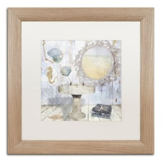 Trademark Fine Art Beach House II Washed Matted Framed Wall Art