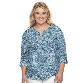 Plus Size Dana Buchman Popover Top