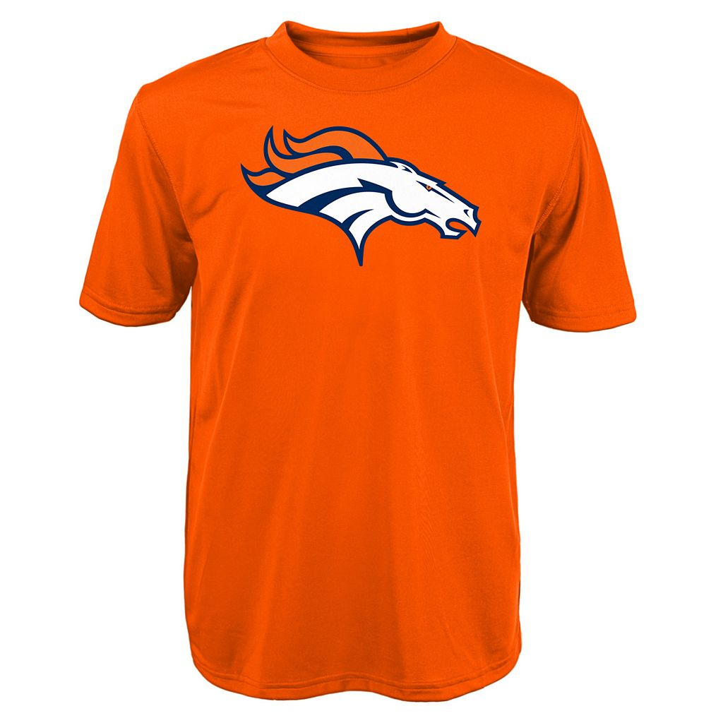Boys 8-20 Denver Broncos Primary Logo Performance Tee