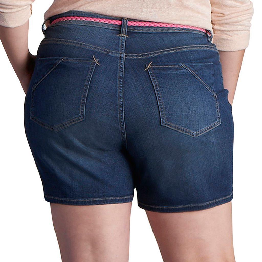 Plus Size Lee Twila Modern Series Belted Jean Shorts