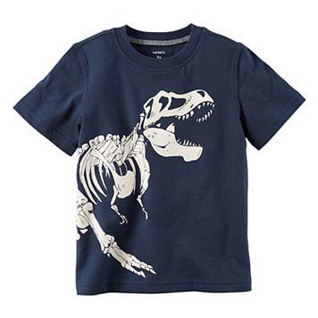 Boys 4-8 Carter's Glow-in-the-Dark Dinosaur Skelton Graphic Tee