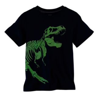 Boys 4-8 Carter's Glow-in-the-Dark Dinosaur Skelton Graphic Tee