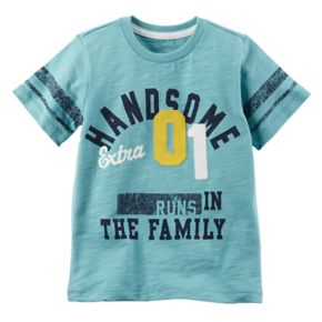 """Boys 4-8 Carter's """"Handsome 01 Runs in the Family"""" Graphic Tee"""