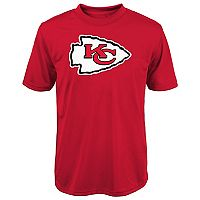 Boys 8-20 Kansas City Chiefs Primary Logo Performance Tee