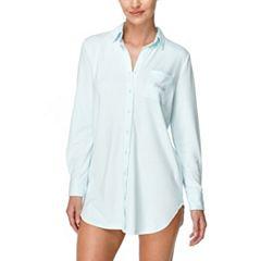 Women's Flora by Flora Nikrooz Pajamas: Tulla 'Bride' Button Down Sleep Shirt