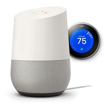Google Home & Nest Learning Thermostat (3rd Generation) Bundle
